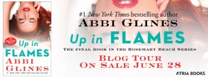 Blog Tour Banner - UP IN FLAMES